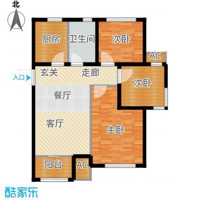 旭辉朗悦湾92.00㎡高层标准层G户型