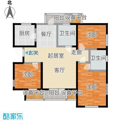 中兴泊仕湾126.97㎡一期高层1号楼标准层D户型