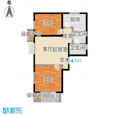 中兴泊仕湾79.77㎡一期高层1号楼标准层A户型