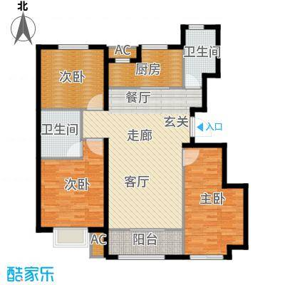 旭辉朗悦湾110.00㎡洋房标准层B户型