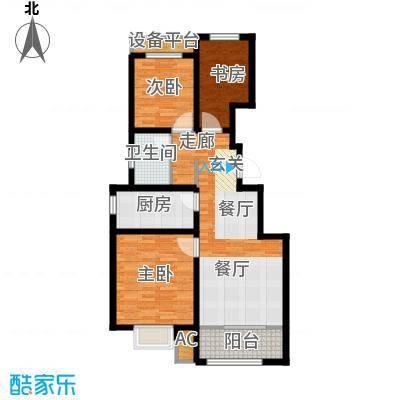 旭辉朗悦湾88.00㎡洋房标准层C户型