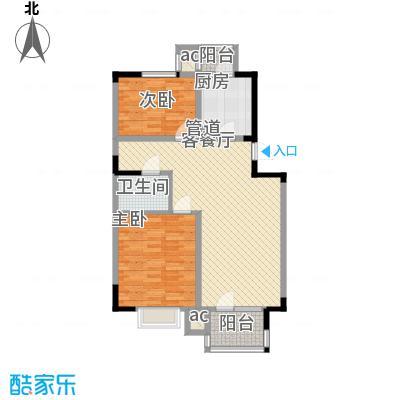 福源九方95.00㎡洋房标准层B2户型