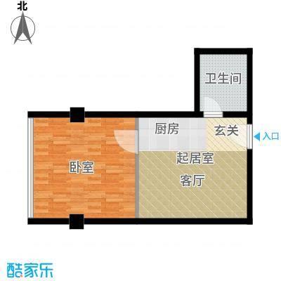 鼎泰精装公寓60.00㎡高层标准层户型