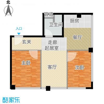 鼎泰精装公寓130.00㎡高层标准层户型