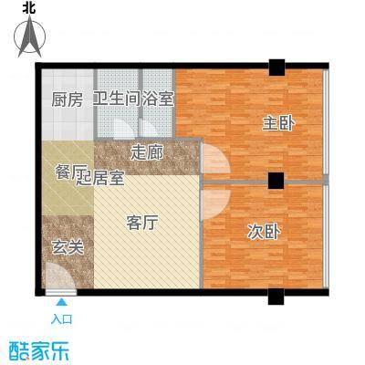 鼎泰精装公寓120.00㎡高层标准层户型