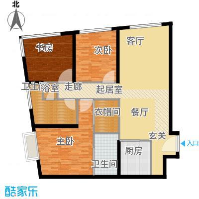天津大悦城悦府Ⅱ期127.33㎡2号楼6-25层08户型