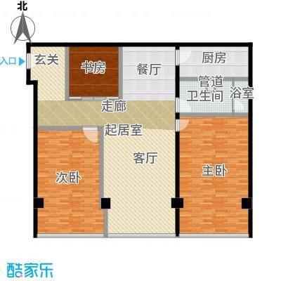 鼎泰精装公寓186.00㎡高层标准层户型