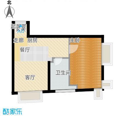 天津大悦城悦府Ⅱ期66.74㎡3号楼6-25层11户型