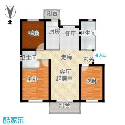 津门及第107.97㎡高层标准层A户型