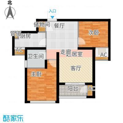 东壹区89.00㎡高层4号楼标准层C3户型