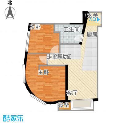 天津大悦城悦府Ⅱ期87.21㎡3号楼6-25层06户型