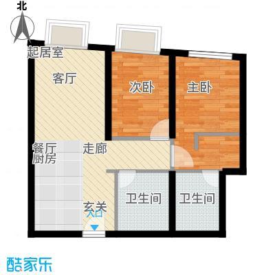 天津大悦城悦府Ⅱ期97.69㎡3号楼6-25层02户型