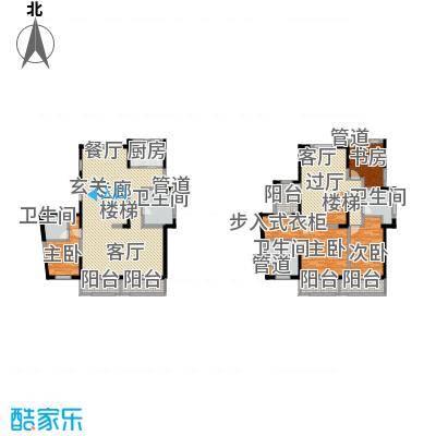 万科柏翠园230.00㎡二期高层标准层跃层端户润景居户型