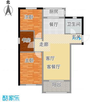 津门及第88.57㎡高层标准层F户型