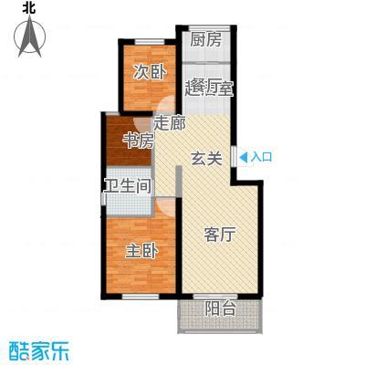 津门及第87.28㎡高层标准层B户型