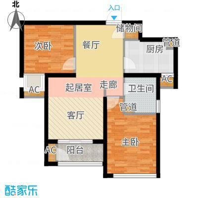 东壹区90.00㎡高层9号楼标准层E4户型