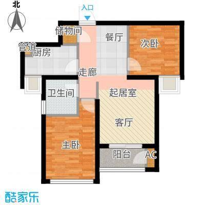 东壹区89.00㎡高层7号楼标准层E3户型