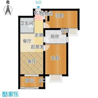 东壹区88.00㎡高层8号楼标准层F3户型