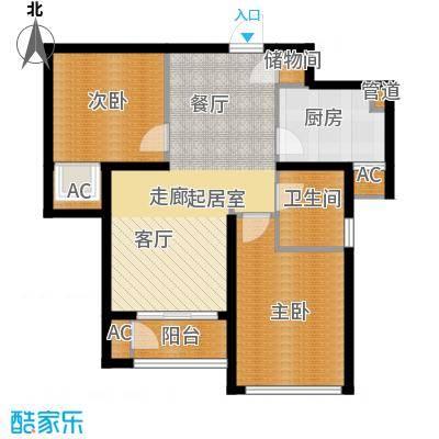 东壹区90.00㎡高层8号楼标准层C4户型