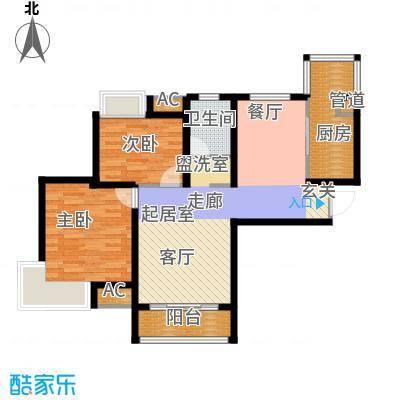 东壹区104.00㎡高层8号楼标准层C2户型