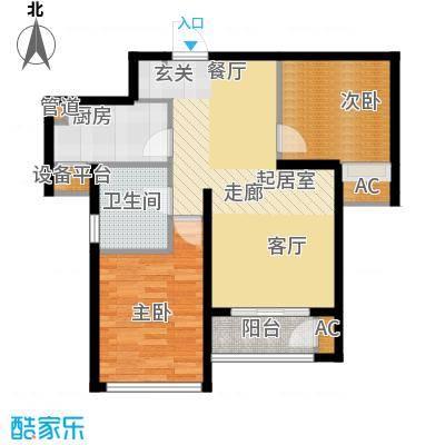 东壹区89.00㎡高层8号楼标准层A1户型