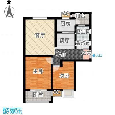 上都国际公寓82.00㎡面积8200m户型