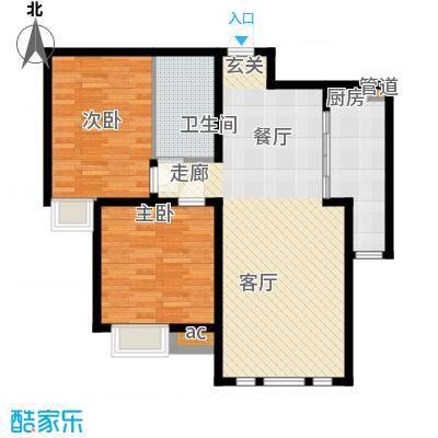 泰达御海101.00㎡高层22号楼标准层H2户型