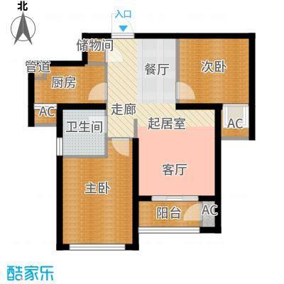 东壹区89.00㎡高层8号楼标准层C3户型