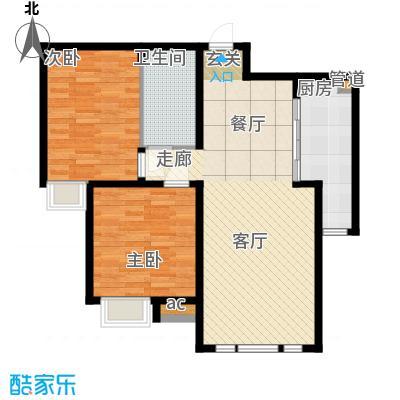 泰达御海99.00㎡小高层16、19号楼标准层G2户型