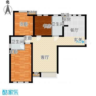 泰达御海130.12㎡小高层16、19号楼标准层G1户型