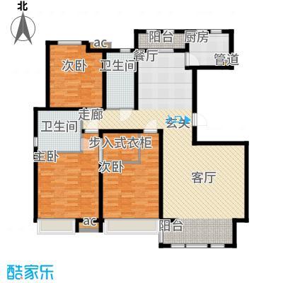 泰达御海150.15㎡洋房17、18号楼标准层A3户型