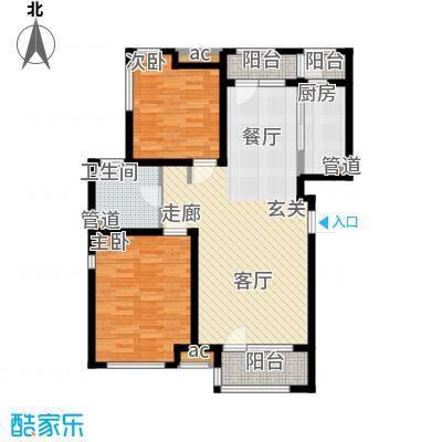 泰达御海103.00㎡公寓28、29号楼标准层D户型