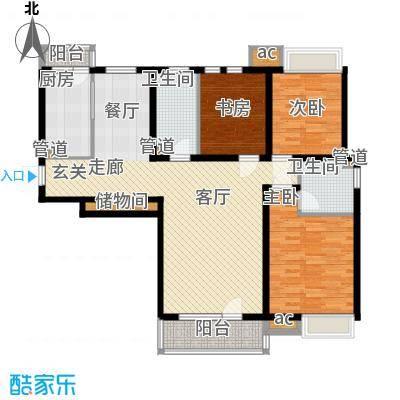 泰达御海134.00㎡高层2、3、4号楼标准层F1户型
