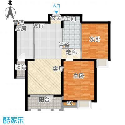 泰达御海100.00㎡高层2、3、4号楼标准层F2户型
