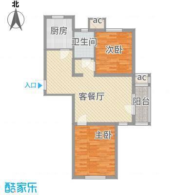 明城东岸89.00㎡高层30号楼标准层F户型
