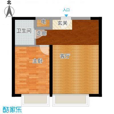 豆蔻工社77.36㎡A1-A4号楼标准层平层C2户型