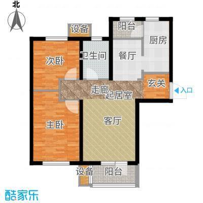 明城东岸92.00㎡高层30号楼标准层E户型