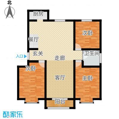 天津星河花园114.25㎡一期1#楼标准层B户型