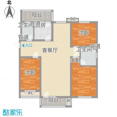 明城东岸142.00㎡高层28、29号楼标准层C户型