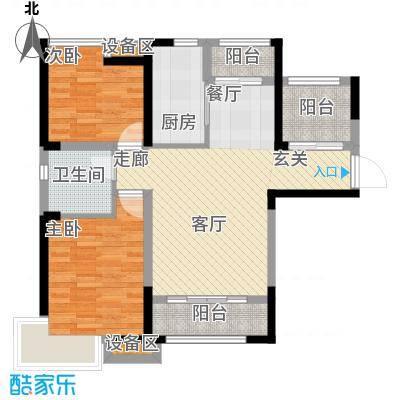 泰达风景83.68㎡16、23、24、26、28号楼标准层G12户型
