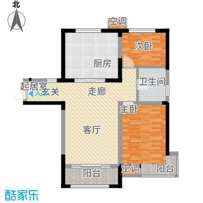 泰达风景92.62㎡14、15、17、25号楼标准层G2户型