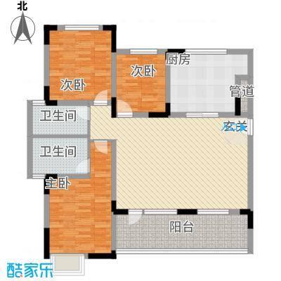 泰达风景142.50㎡4、12号楼标准层YF2户型