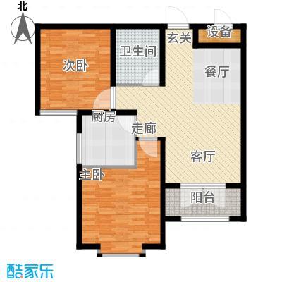天津星河花园88.95㎡二期高层标准层E户型
