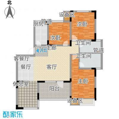 泰达风景142.50㎡4、12号楼标准层YF1户型