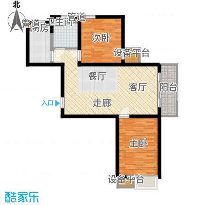 华城领秀95.00㎡三期6、8、12、25、26号楼标准层G1户型