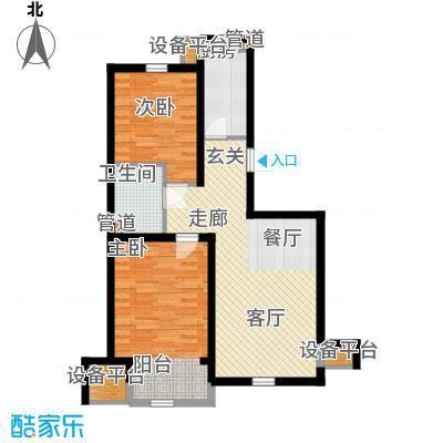 华城领秀91.00㎡三期10、11、21、22号楼标准层B3户型