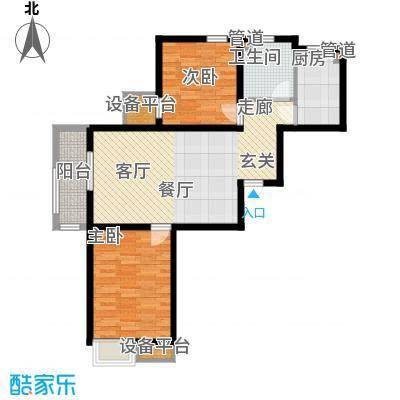 华城领秀91.00㎡三期6、8、12、25、26号楼标准层G2户型
