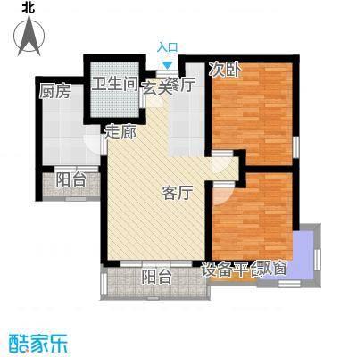 华城领秀92.88㎡一期1号楼标准层Q4户型