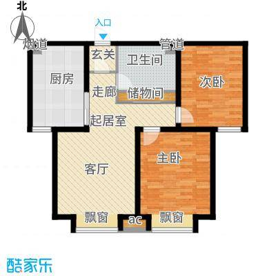 游龙逸海庭院87.91㎡二期公寓产品标准层B户型