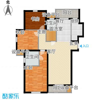 矽谷港湾143.38㎡知本家公寓标准层A1户型